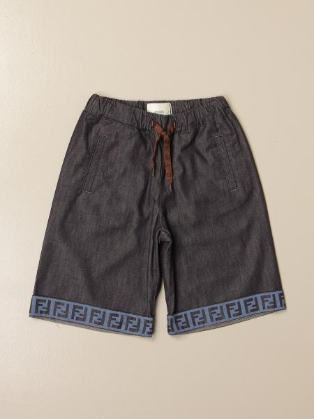 Fendi jogging Bermuda shorts with all-over FF bands