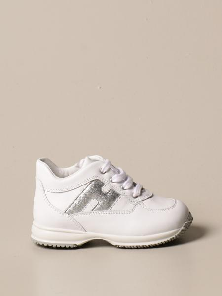 Hogan Baby sneakers in leather with glitter H