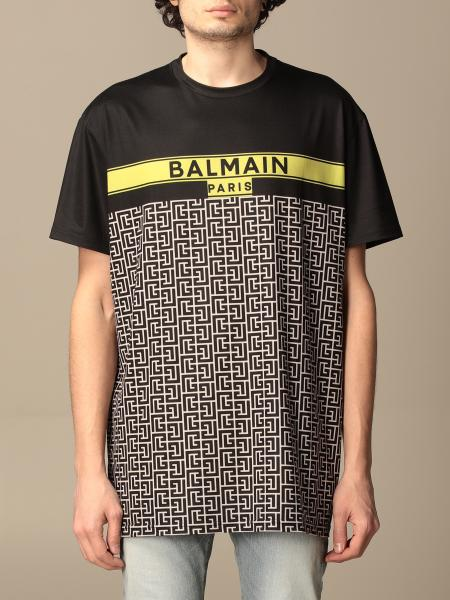 Balmain cotton T-shirt with all-over monogram logo