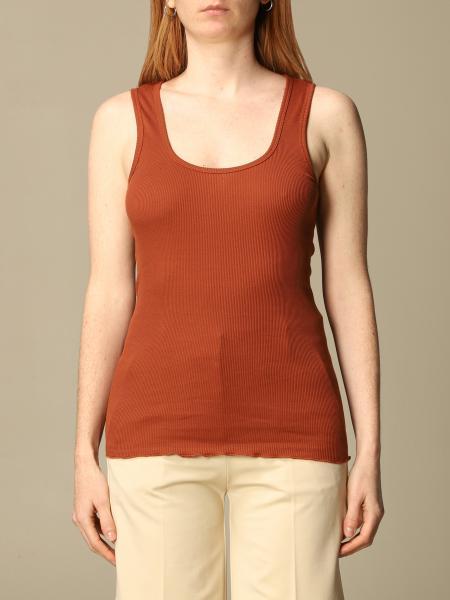 Pinko women: Pinko basic tank top in ribbed knit