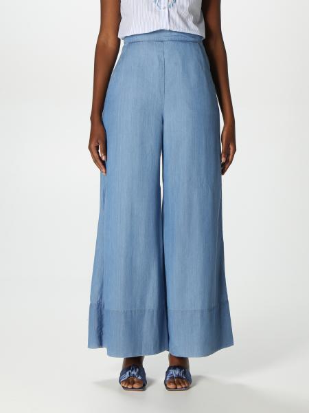 Pinko women: Pinko palazzo jeans in lyocell denim