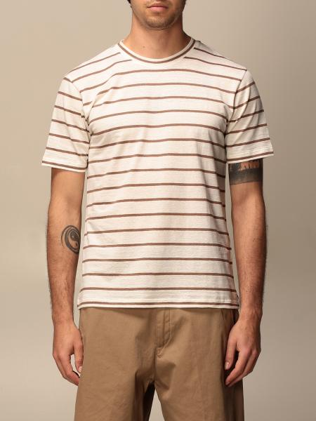 Eleventy striped cotton T-shirt