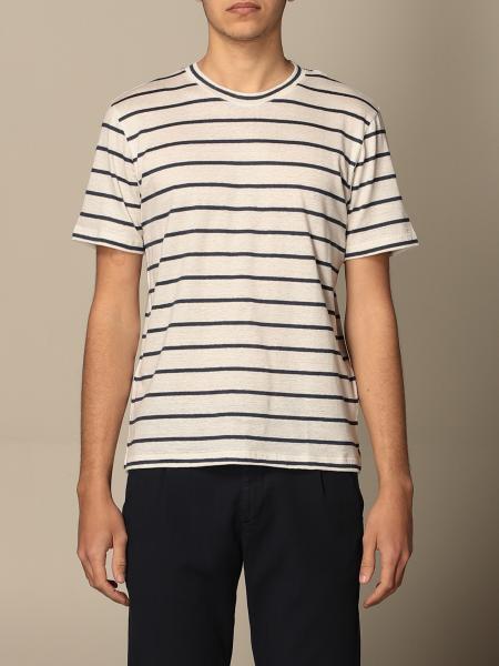 T-shirt Eleventy in cotone a righe