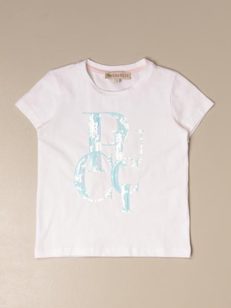 Emilio Pucci: T-shirt Emilio Pucci in cotone con big logo di paillettes