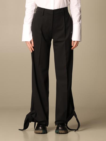 Off White pants with ribbons