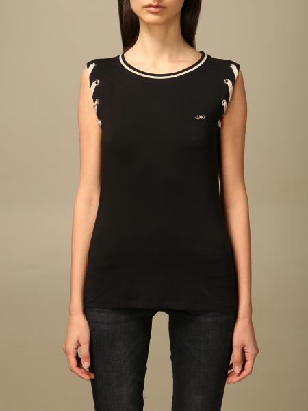 T-shirt Liu Jo in cotone con criss cross