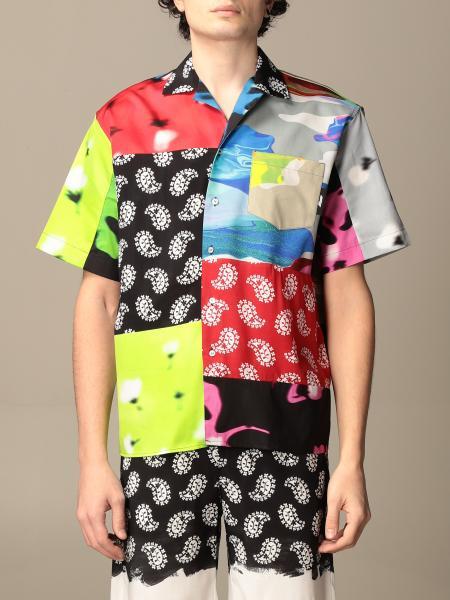 Camicia Msgm stampata a maniche corte