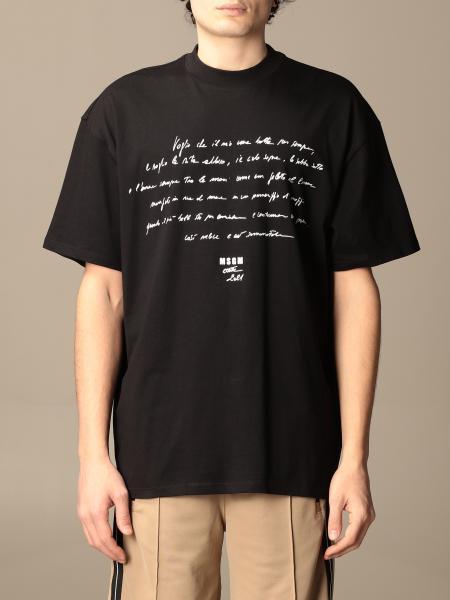 T-shirt Msgm in cotone con logo e scritta