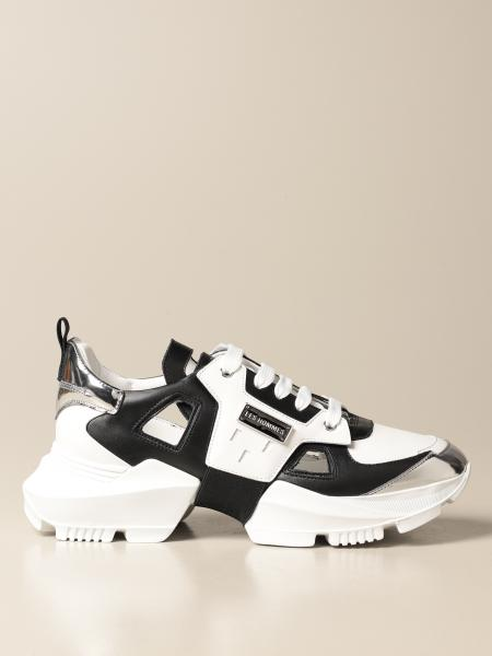 Sneakers Les Hommes in pelle cut out