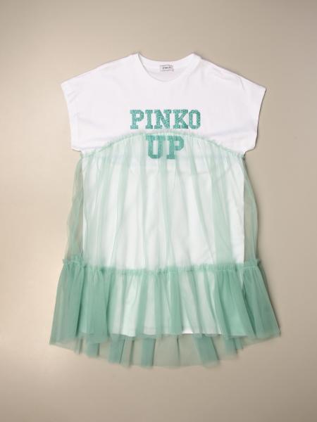 Abito Pinko in cotone con gonna in tulle