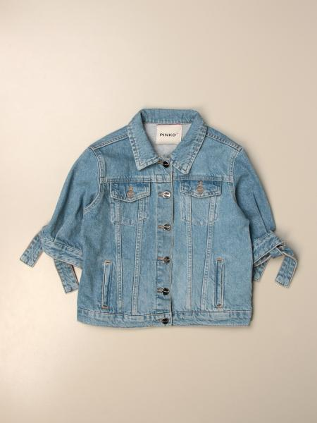 Giacca di jeans Pinko con logo posteriore