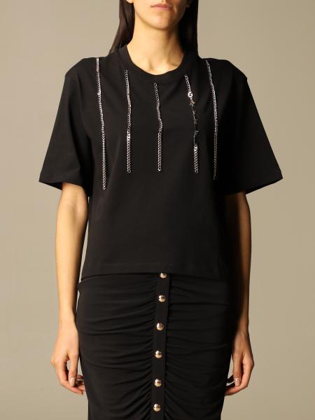 T-shirt GaËlle Paris in cotone con micro catene