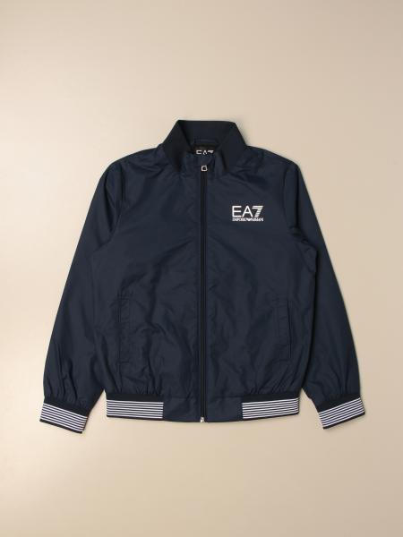 Emporio Armani: Emporio Armani zipped jacket with logo
