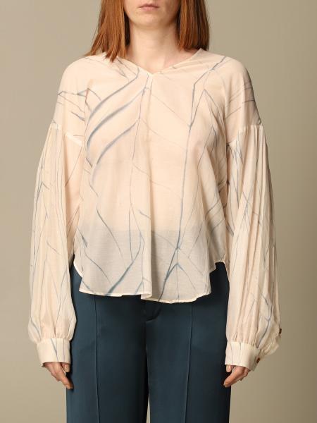 Blusa Alysi in cotone e seta stampata