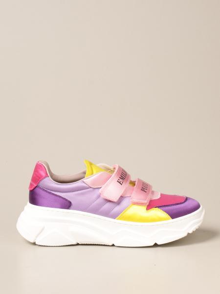 Emilio Pucci: Sneakers Emilio Pucci in raso multicolor
