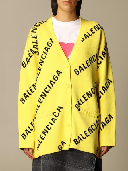 Balenciaga: Cardigan Balenciaga con logo all over