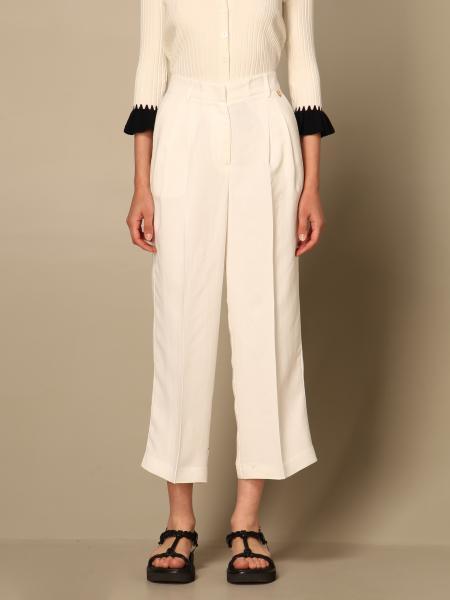 Twinset women: Twin-set pants in linen blend