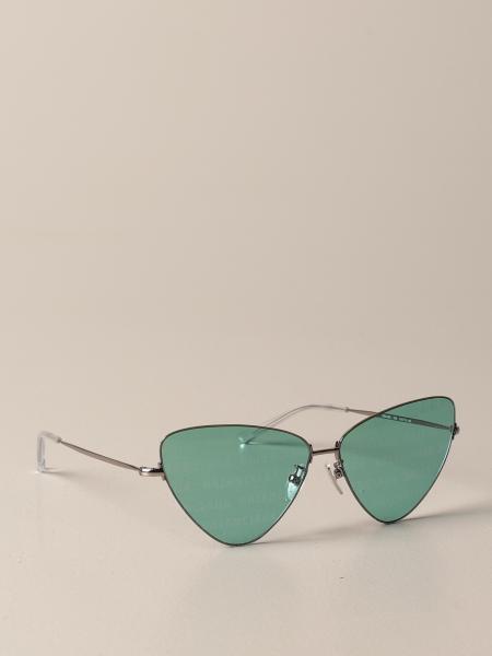 Balenciaga: Occhiali da sole Balenciaga in metallo con logo