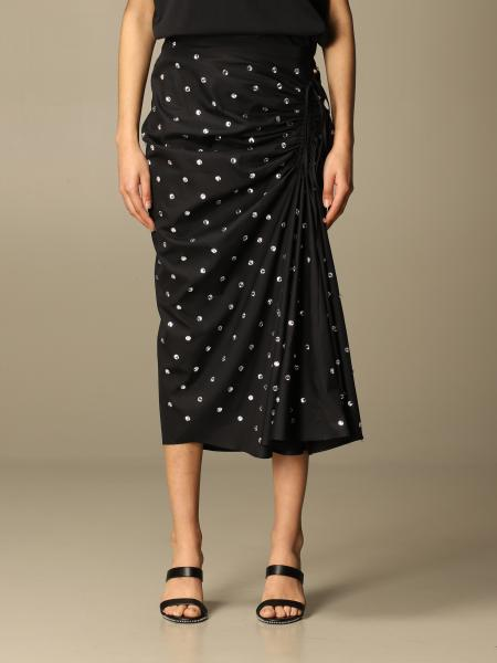 N ° 21 skirt with all-over macro rhinestones