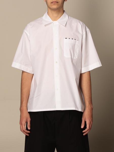 Marni: Marni cotton shirt with logo