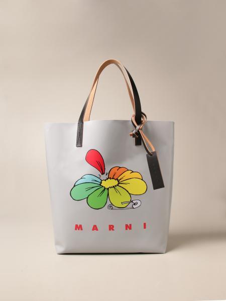 Marni tote shopping bag with logo