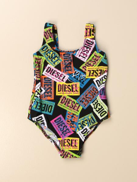 Costume intero Diesel con logo all over