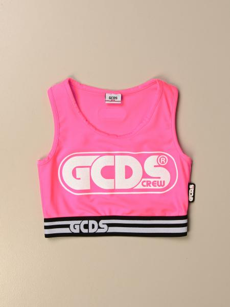 Gcds cropped top with big logo