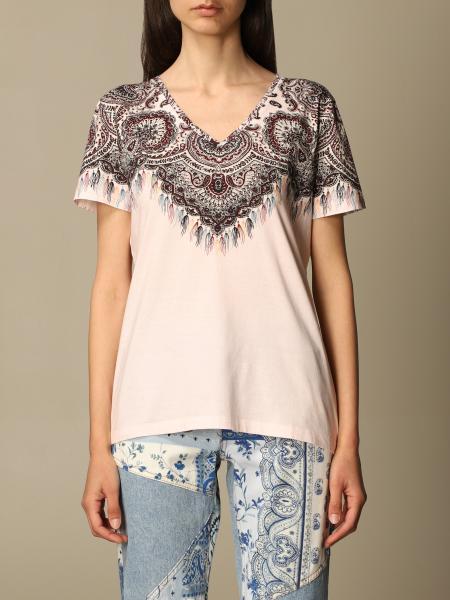 Etro women: Etro cotton T-shirt with bandana print