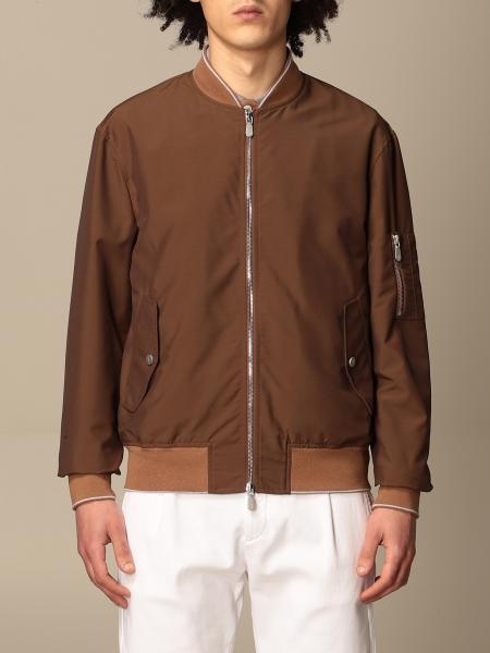 Eleventy bomber jacket with zip