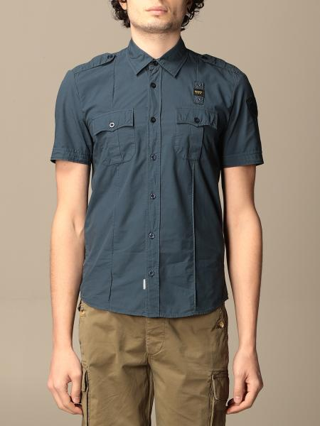 Blauer short-sleeved shirt with logo