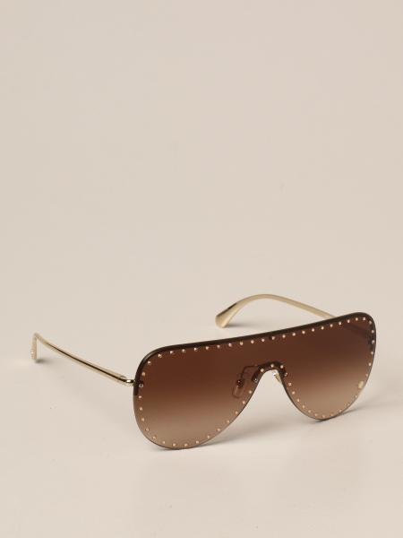 Versace sunglasses in metal with micro studs
