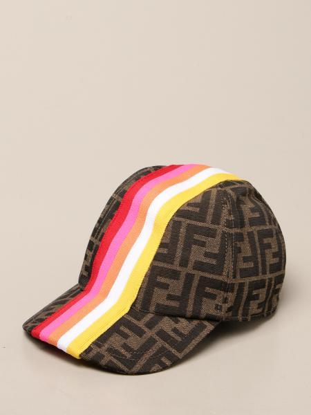 Fendi baseball cap with striped band