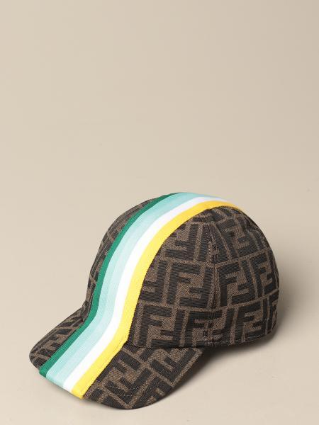 Cappello da baseball Fendi con banda a righe