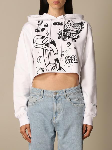 Gcds: Gcds cropped sweatshirt with multi prints