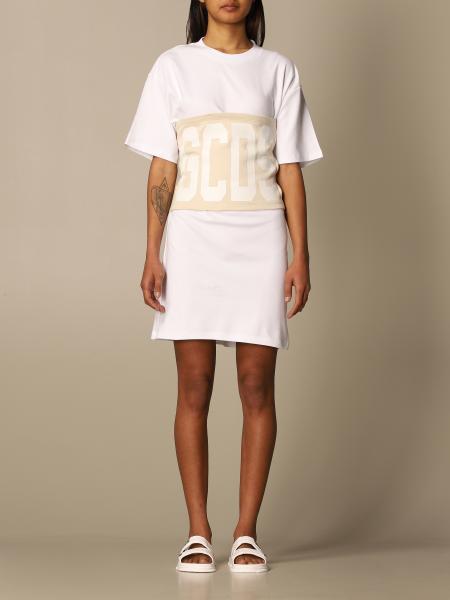 Gcds: Gcds cotton t-shirt dress with big logo