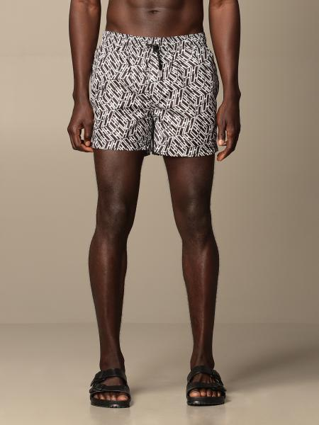 Les Hommes boxer swimsuit with all over logo
