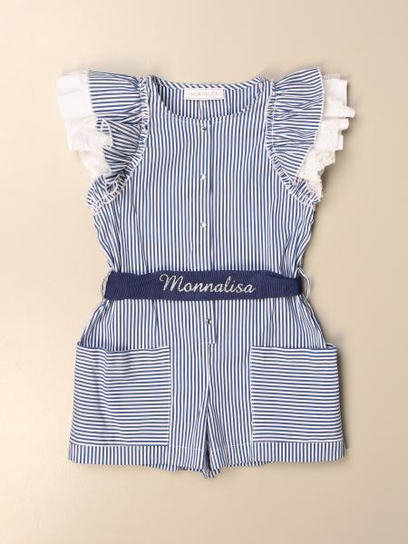Monnalisa short striped cotton onesie