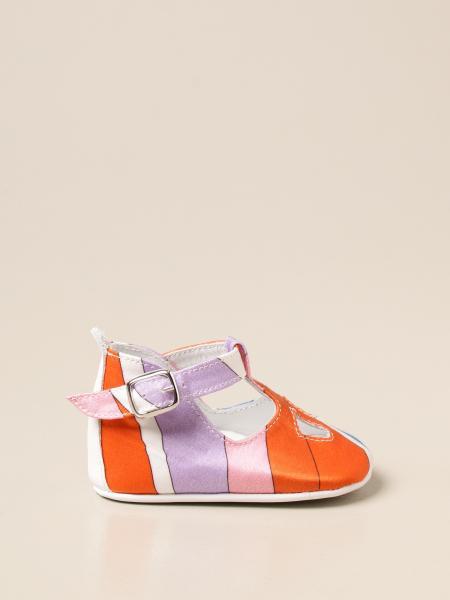 Emilio Pucci: Scarpa da culla Emilio Pucci in misto seta stampata
