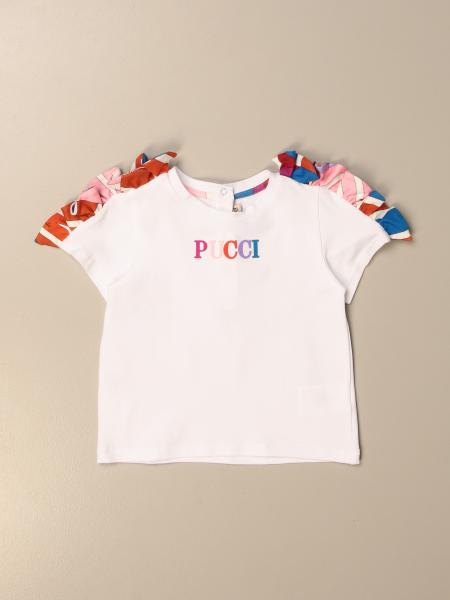 Emilio Pucci T-shirt with patterned ruffles