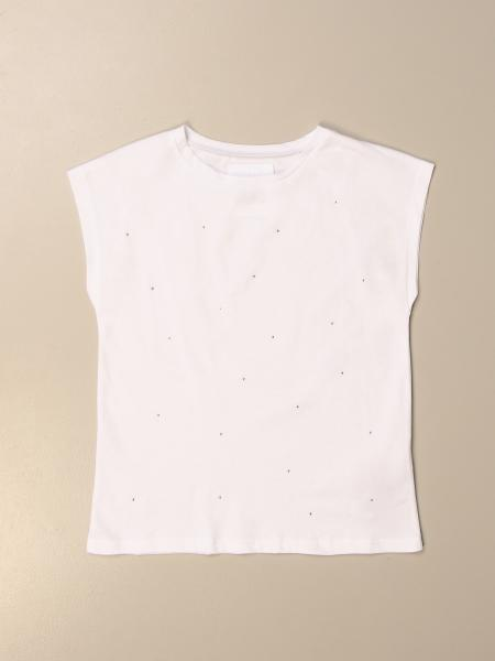 Douuod: Basic Douuod T-shirt with micro rhinestones