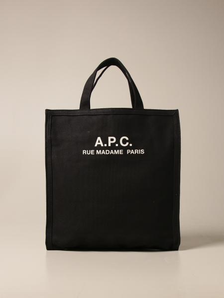 A.p.c.: Borsa a spalla A.P.C. in tela