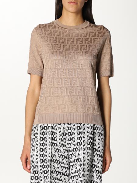 Fendi women: Fendi crewneck sweater in FF knit