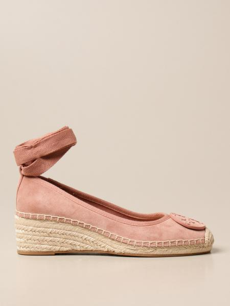 Tory Burch: Tory Burch espadrilles in suede with logo