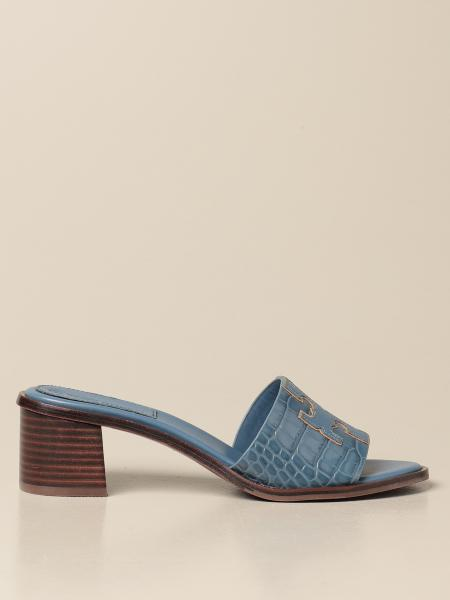 Tory Burch: Ines Tory Burch band sandals with emblem