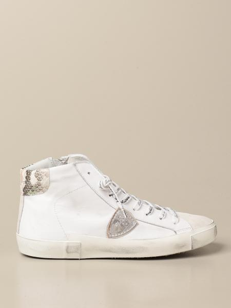 Philippe Model women: Paris Philippe Model sneakers in leather and suede