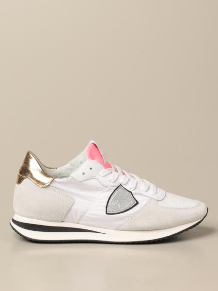 Philippe Model women: Philippe Model sneakers in nylon and suede