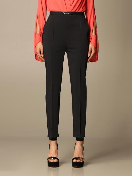 Elisabetta Franchi: Elisabetta Franchi high-waisted pants in stretch nylon