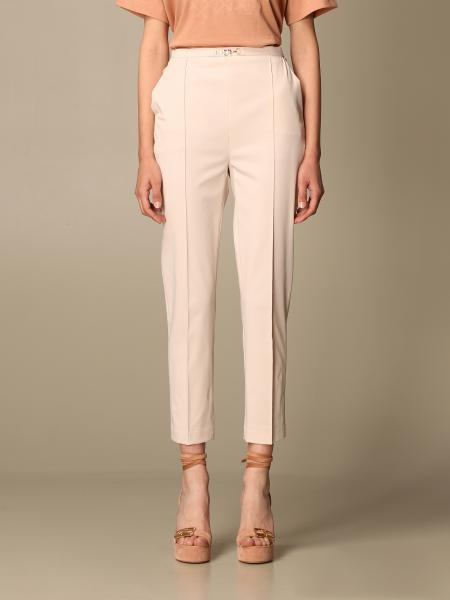 Pantalone a vita alta Elisabetta Franchi in nylon stretch