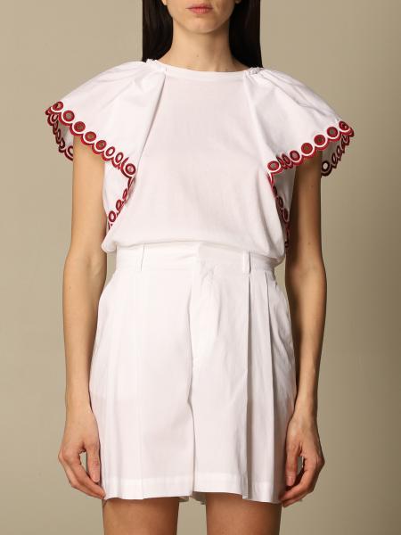 Red Valentino: T-shirt a girocollo Red Valentino in cotone