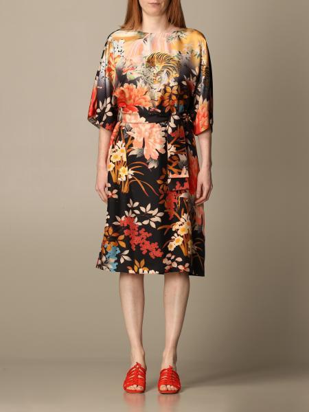 Etro women: Etro short dress in patterned silk